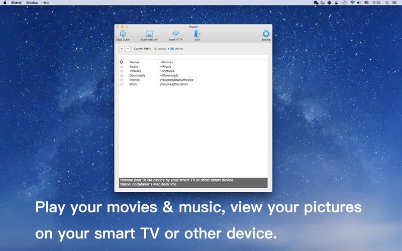 Sharer - DLNA Media Server скриншот программы 1