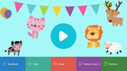 Learn 123 -  first numbers with sounds and animals