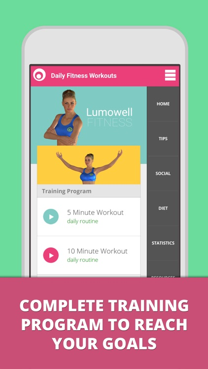 Daily Fitness Workouts - Lumowell Personal Trainer screenshot-0