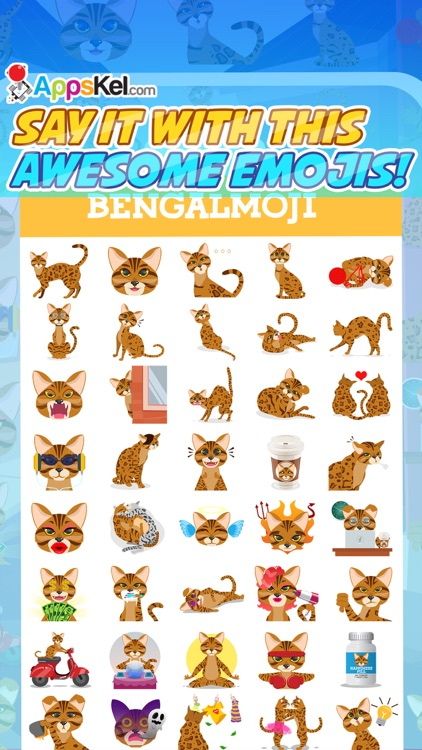 Bengalmoji – Bengal Cats Emoji & Stickers Pro screenshot-3