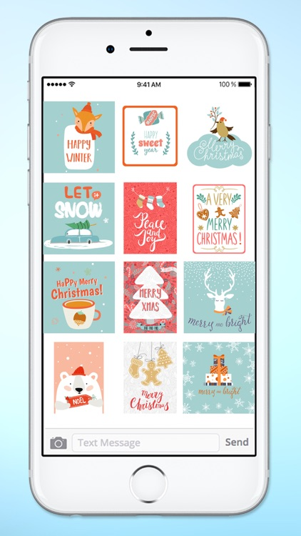 Happy Holidays Christmas Tags Sticker Pack screenshot-4