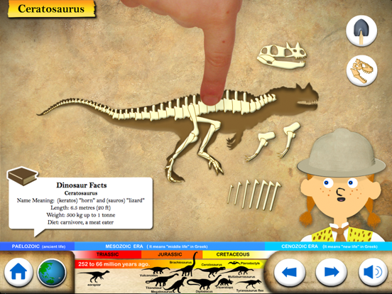 Dinosaur Fossils - History for kids | App Price Drops