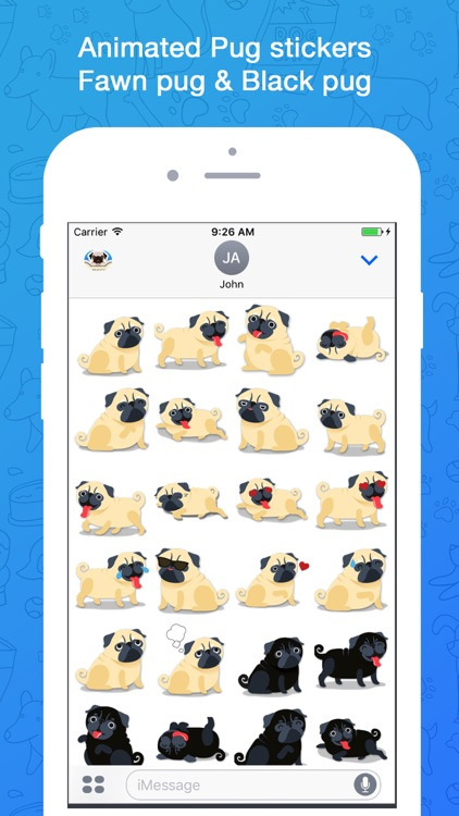 Puggy - Pug emoji & widget screenshot-0