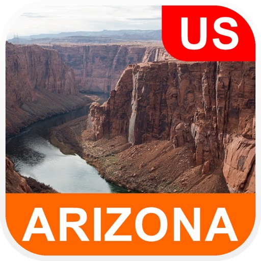 Arizona, USA Offline Map - PLACE STARS