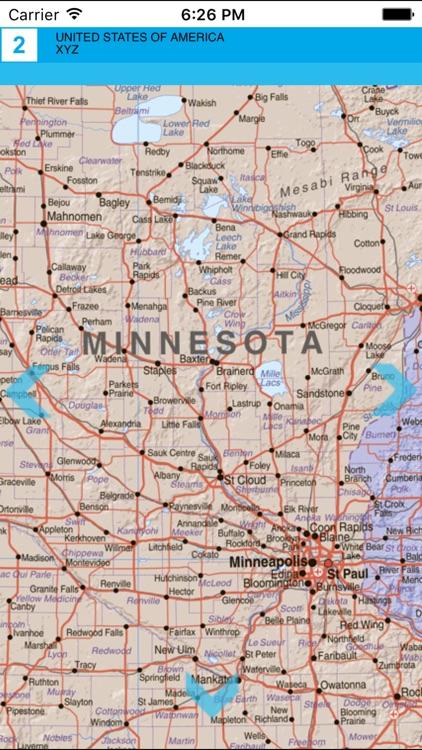 USA. Political map screenshot-3