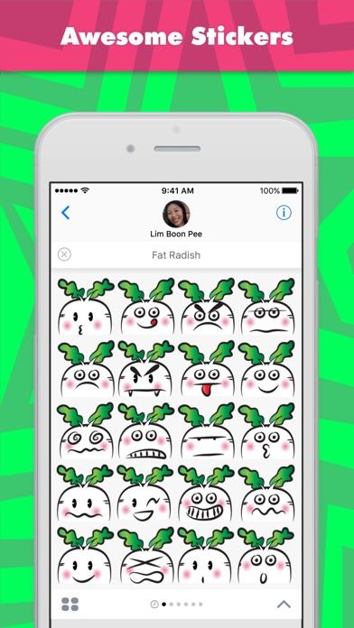 Fat Radish stickers by wenpeiScreenshot von 1