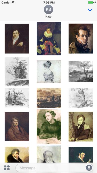 Orest Kiprensky Artworks Stickers screenshot three