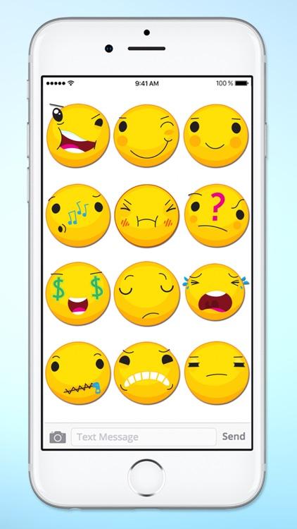 Cute Emoji Smile Emoticons Sticker Pack screenshot-3