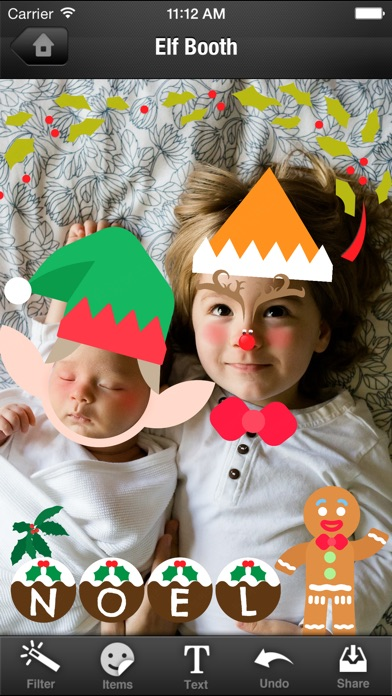 upload your photo and dress up like an elf with xmas magic elf make ups and dresses now you can become a dancing elf with just a few touches - Christmas Elf Dance App
