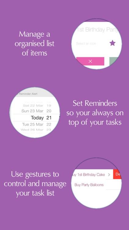 Baby list planner - Checklist Task/Activities/ToDo screenshot-3