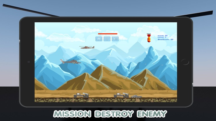 World Helicopter Gunship Air Strike Game