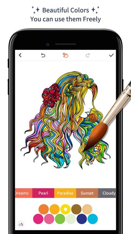 Color Doodle - Adults Coloring Book & Pigment Page
