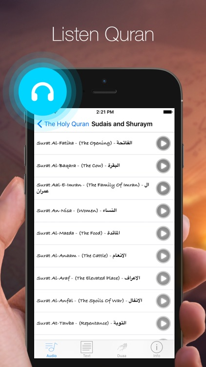 Al-Quran audio book for your prayer time screenshot-1