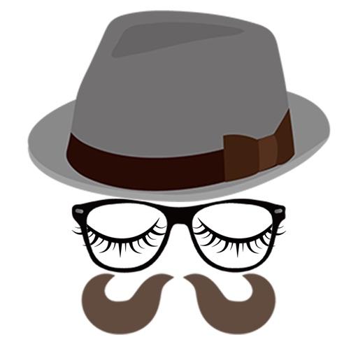 Stylish hat and glasses