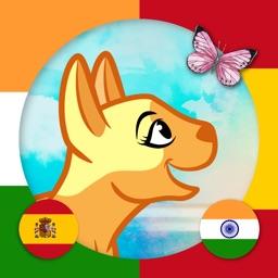 Learn Hindi & Spanish - Toddler & Kids Animals