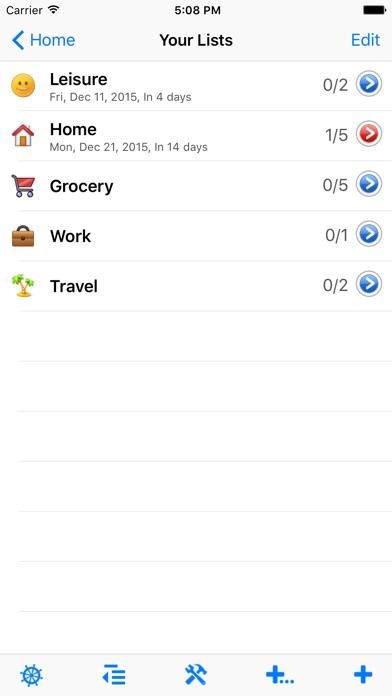 List review screenshots