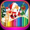 聖誕老人- 聖誕-畫畫-圣诞快乐-圣诞装扮-畫畫板遊戲·幼兒塗鴉·寶寶填色·早教 ,儿童学画画免费