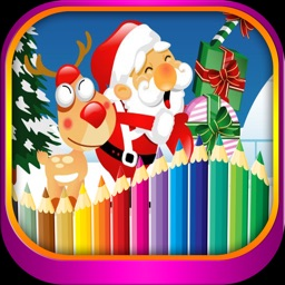 Christmas Drawing and Coloring book for kids