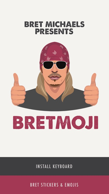 Bret Michaels Emojis + Lyric Keyboard screenshot-0