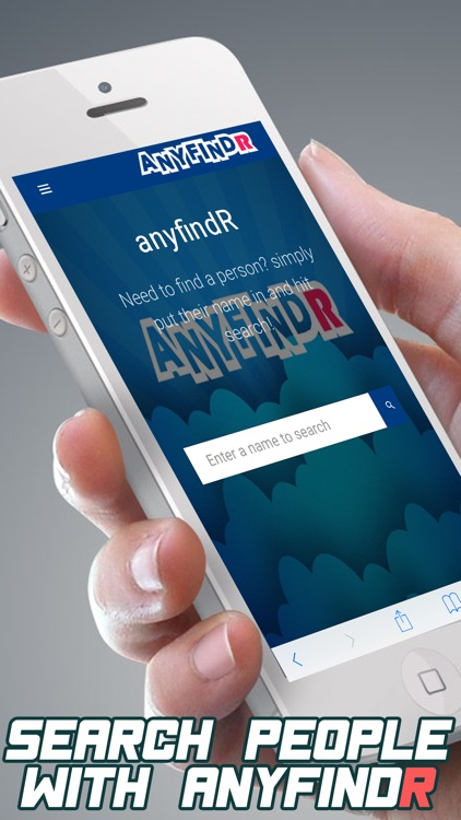 anyfindR - Find any person online in one search app image