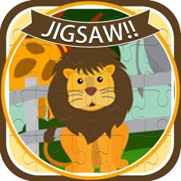 Zoo Animals Cartoon Jigsaw Puzzle Games