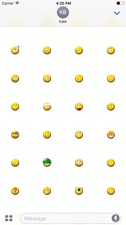 Animated Crazy Emoji Stickers For iMessage