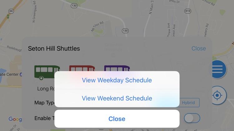 Seton Hill Shuttle Tracker