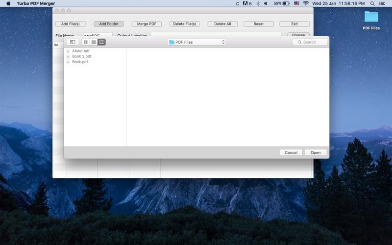 Turbo PDF Merger Screenshot - 2