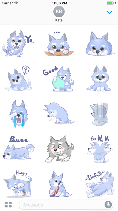 Jacob The Lonely Wolf English Stickers