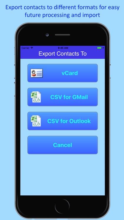 1.2.3 Contacts Backup & Merge screenshot-4