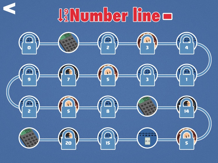 Number Line Minus - Learn Subtraction