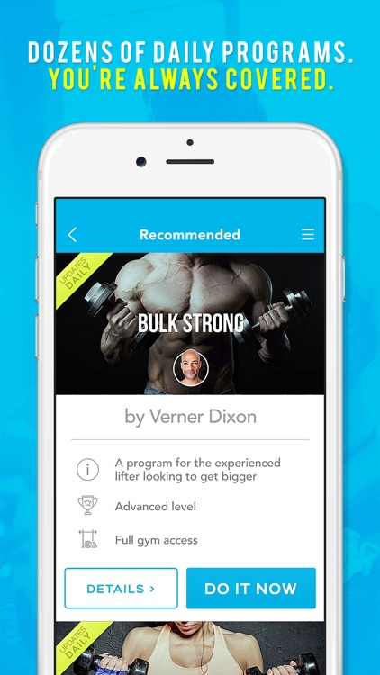 Daily Spot - Daily Gym Workouts, Meals, Wellness