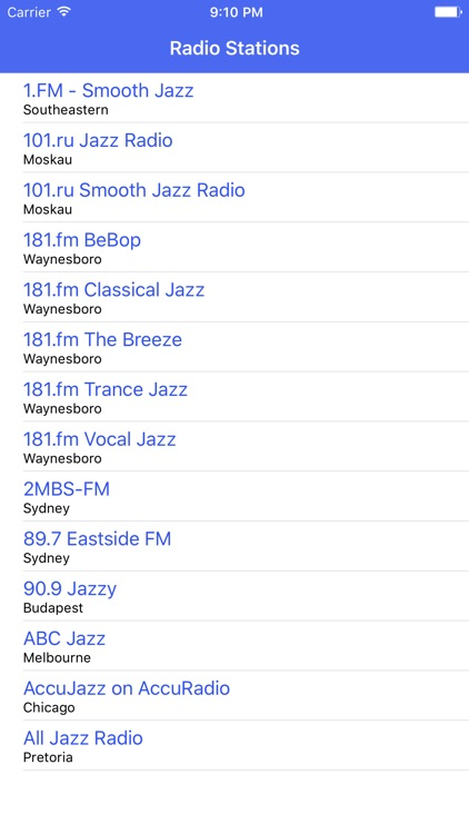 Radio Channel Jazz FM Online Streaming