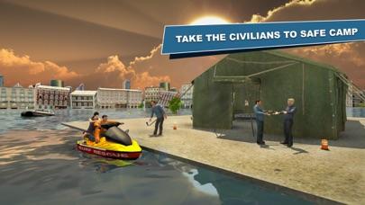 噴氣式滑雪救生艇生存船停车任務- 飞船船赛车 App 截图