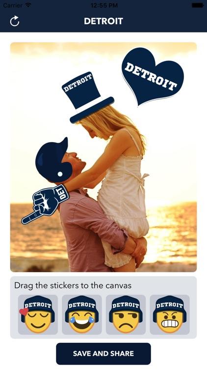 Detroit Baseball Stickers & Emojis