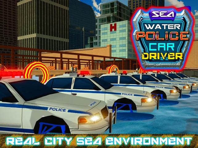 cảnh sát nước biển xe lái xe và tội phạm sim đuổi