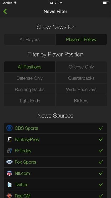 Playerline Fantasy Sports News screenshot-4