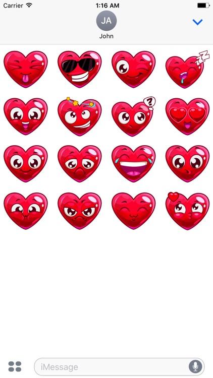 Valentine's Hearts sticker pack