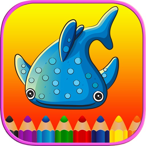 Sea Animals Kids Coloring Pages - Vocabulary Games