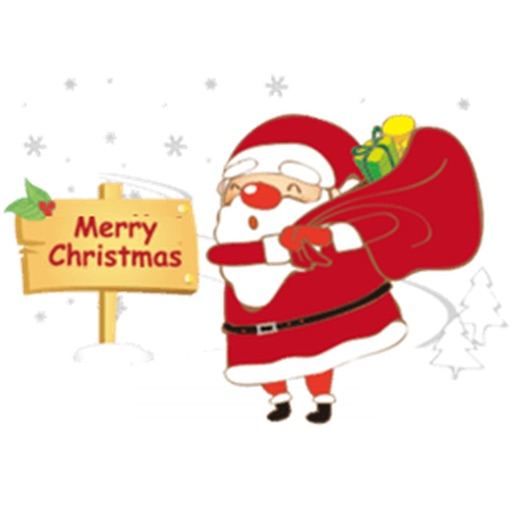Lovely Cards For Merry Christmas Stickers icon