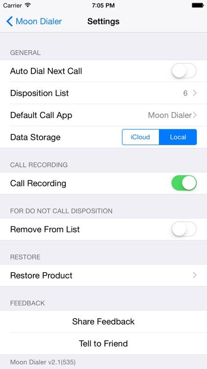 Moon Dialer for Call Center screenshot-4