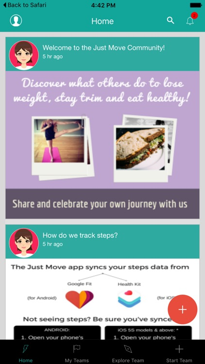Just Move Fitness App
