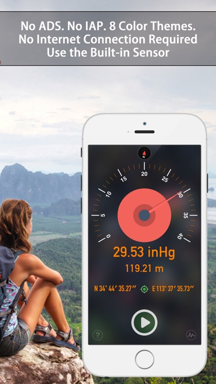 Barometer & Altimeter - for outdoor sports,fishing screenshot-2