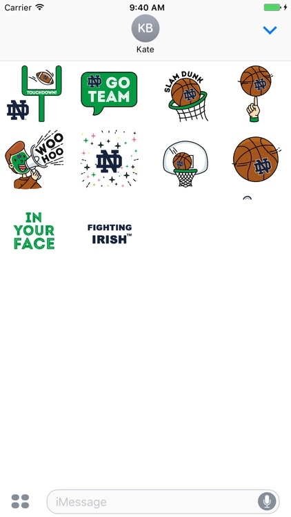 Notre Dame Animated+Stickers Pack for iMessage