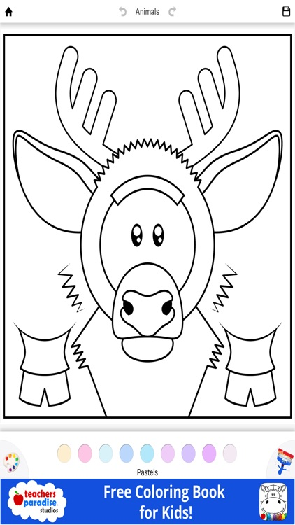 Coloring Book for Kids: Animal Square Heads screenshot-3