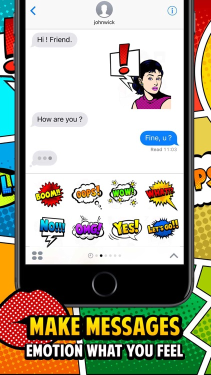 Pop Art Chat Stickers Emoji Keyboard By ChatStick