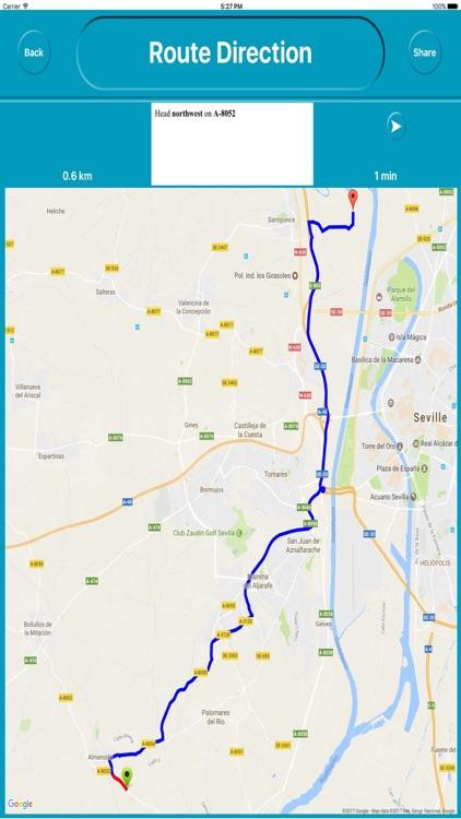 Seville Spain Offline City Maps Navigation screenshot-4