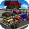 車の輸送トラックの駐車シミュレータ