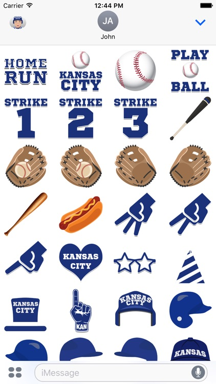 Kansas City Baseball Stickers & Emojis screenshot-3