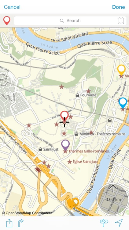 Lyon on foot : Offline Map screenshot-3